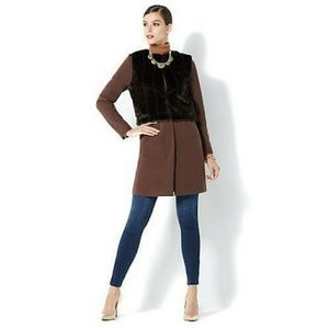 Iman Faux Fur Vest Coat